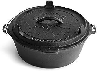 BURNHARD Olla de Hierro Fundido 5,6 L Dutch Oven, Horno holandés, Cacerola Hierro Fundido, Olla Cocina - John