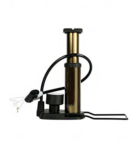 RUIX Hochdruck Standpumpe (Fahrradpumpe, Luftpumpe Für Fahrrad Und Für Luftmatratze) Hochdruck Standpumpe,Gold