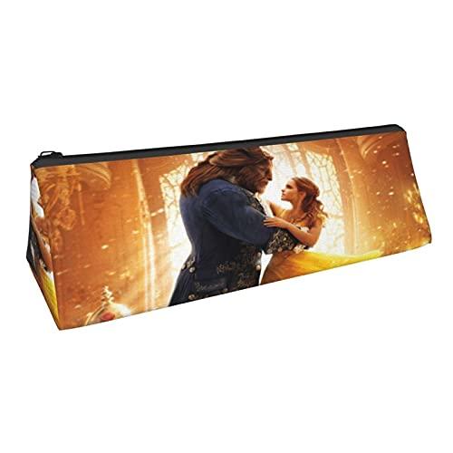 Beauty and The Beast - Estuche de gran capacidad para lápices, bolsa de cosméticos, bolsa de almacenamiento de oficina para estudiantes universitarios, regalos para niñas y niños