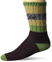 top 10 woolrich wool socks Woolrich Unisex-Adult Striped Merino Socks, Ivy, Large
