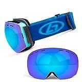 WFDA Gafas de esquí De Doble Capa Anti-vaho Grande esférico Hombres Mujeres Montañismo Prueba de Viento Anti-vaho Gafas de esquí Gafas de esquí para Deportes al Aire Libre