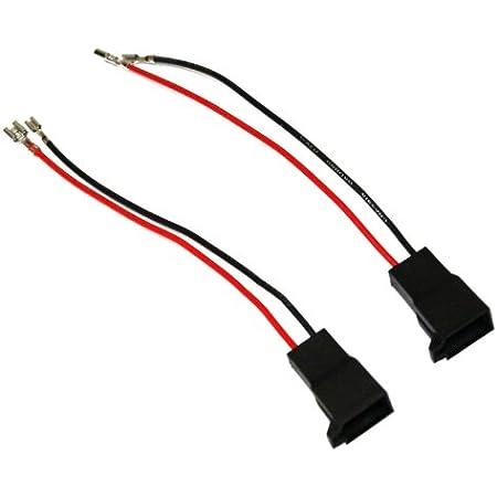 Aerzetix C40969 2 X Lautsprecher Adapter Anschlussstecker Für Auto Auto