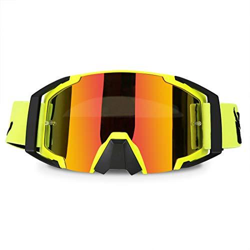 Motorcycle Goggles ATV Motocross Dirt Bike Riding OTG Offroad Racing...
