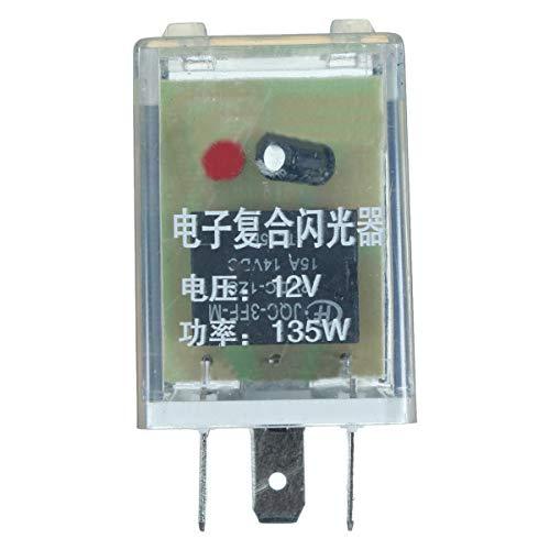 IJEOKDHDUW Unidad de relé de Flasher LED de 12V 3 Pin para el indicador de señal de Giro Flash Flash