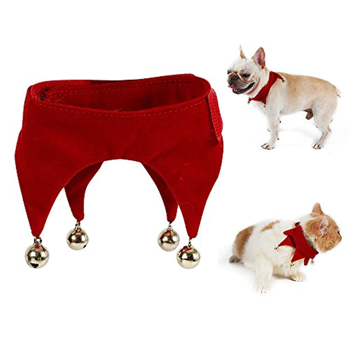 TO-MAN Decorative Dog Collar Christmas Jingle Bells Cat Collar Funny Dog Cat Costumes
