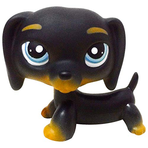 Litps Pet Black Dachshund Teckel Blue Eyes Gift Dog Figure Toy # 325