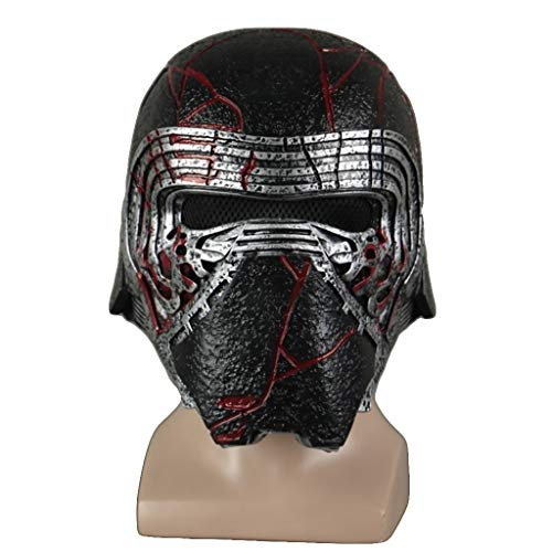 Actuaciones de Halloween máscara de Casco Star Wars Kylo REN Cosplay niños y Adultos Carnaval Pascua,Silver-OneSize