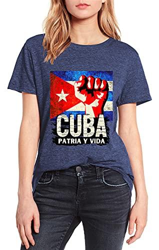 Cuba Patria y Vida Vintage Summer - Camiseta de manga corta para...