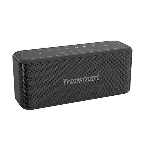 Tronsmart Mega Pro Bluetooth Lautsprecher, 60W Extra Bass Touchpanel Kabelloser Tragbare Lautsprecher mit TWS/NFC/Type C 10,400mAh Akku, Eingebauten Mikrofon für Anrufe/Siri/Google Assistant