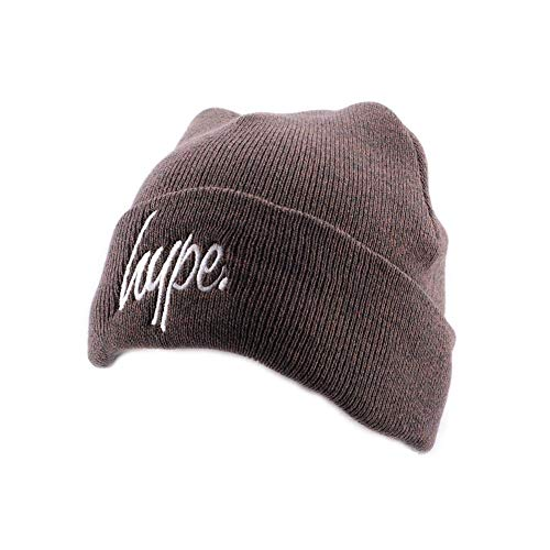 Hype Bonnet à Revers Script Marron et Blanc - Mixte