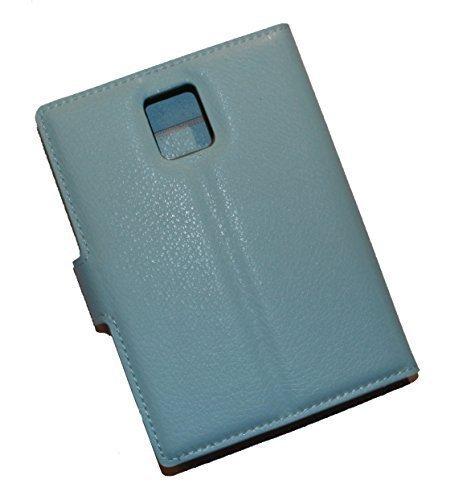 Schutztasche Hülle für Blackberry Passport Q30 Flip Hülle mit Kartenfächern & Standfunktion - Dealbude24 (Hellblau)