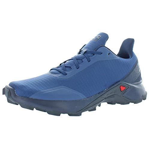Salomon Men's ALPHACROSS Trail Running Shoe, Sargasso Sea/Navy Blazer/India Ink, 11
