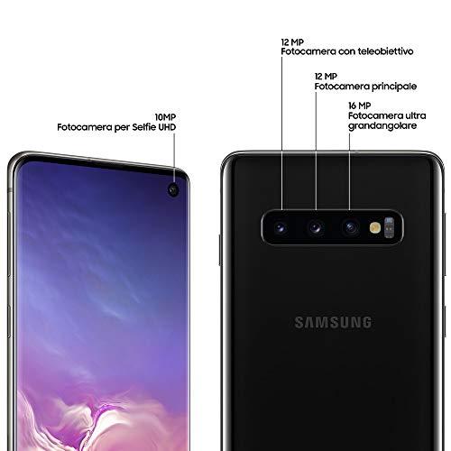 Samsung Galaxy S10 Dual SIM, 128 GB interner Speicher, 8 GB RAM, prism black, [Standard] Französische Version