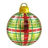 Funmix Bola Inflable Gigante de la Navidad, Bola Inflable Decorada del PVC de la Navidad al Aire Libre Bolas Gigantes de la Feliz Navidad, decoración del Globo del Copo de Nieve