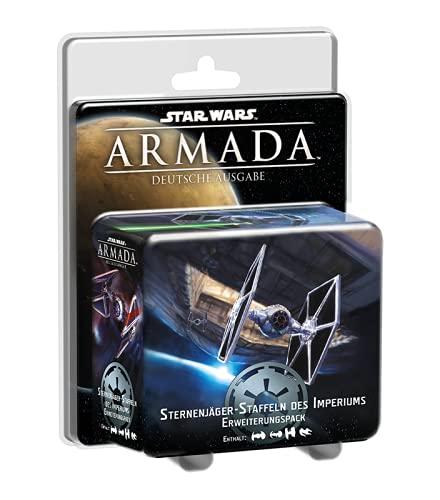 Fantasy Flight Games FFGD4307 Asmodee Star Wars: Armada - Sternenjäger-Staffeln des Imperiums, Erweiterung, Tabletop, Deutsch
