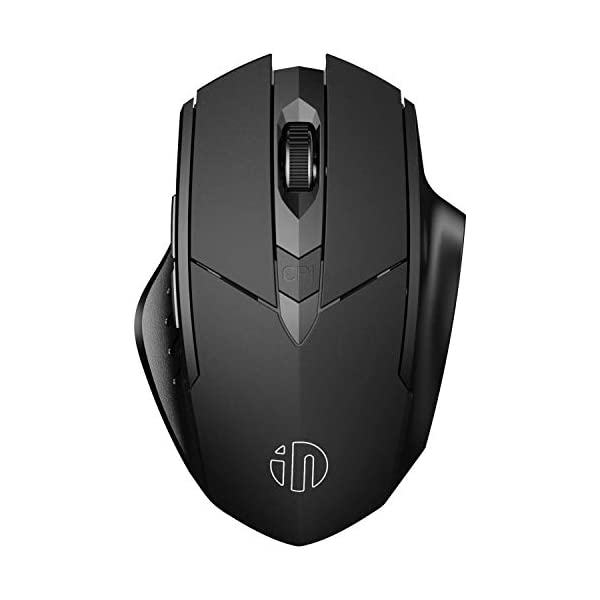 Bluetooth Mouse, Inphic Rechargeable Wireless Mouse Multi-Device (Tri-Mode:BT 5.0/3.0+2.4Ghz)...