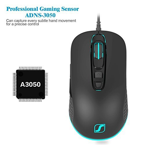 Jelly Comb 4000 DPI 7 Buttons LED USB Wired Optical Gaming Mouse