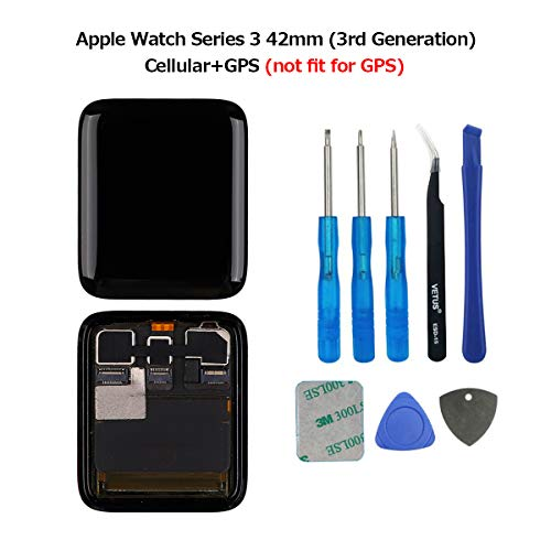 Swark LCD-scherm compatibel met Apple Watch Series 3 42 mm (3e generatie) GPS + cellular LCD-scherm en Digitizer Assembly + Tools