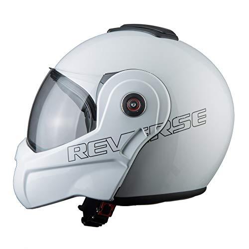 BHR Helmets 807 REVERSE Motorradhelm Unisex für Erwachsene, Weiss, XS