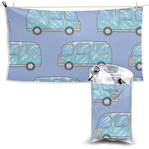Dibujos animados coloridos Pintura linda Coche Deportes Toallas de baño Toalla de secado para camping Toalla seca para toalla de camping Microfibra 27.5 '' X 51 '' (70 X 130 cm) mejor para gimnasio V