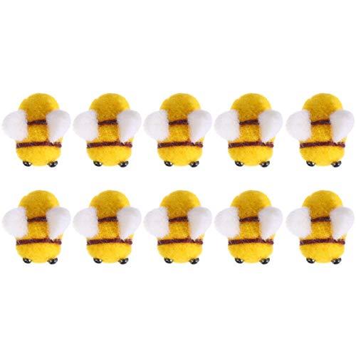 Supvox 10 Pezzi di Feltro di Lana Artigianato Ape Decor Palla Abbigliamento Tenda Cappello Accessori Doccia Genere Rivelare Decorazione del Partito Fai da Te E Fatto a Mano