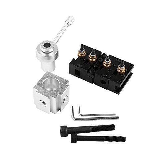 Werkzeughalter Drehstahlhalter Mini Drehmaschine Schnellwechsler Aluminiumlegierung Schnellwechsel Mini Drehwerkzeughalter Werkzeug Schnellwechselsystem Schnellwechselhalter für Drehbank