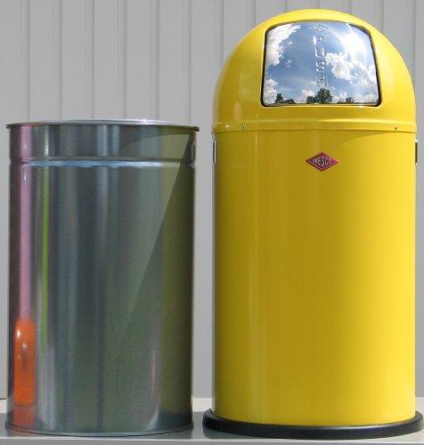 PUSHBOY LEMONYELLOW Abfallsammler 50 Liter Mülleimer Klassiker WESCO