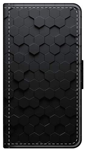 Flip Case Farbe BUNT kompatibel für iPhone 5 5s Hintergrund Hexagon Handy Hülle Leder Tasche Klapphülle Brieftasche Etui rund um Schutz Wallet M14
