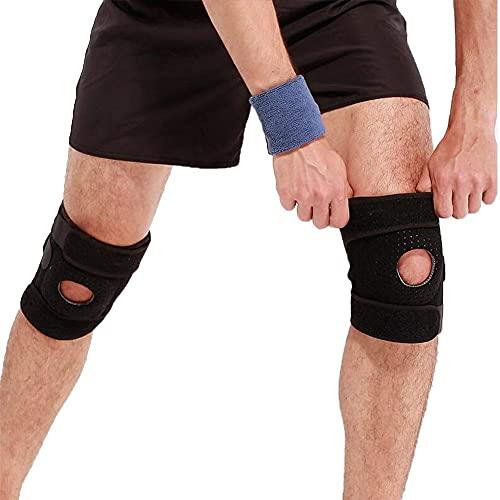 Soporte de rodilla, rótula abierta con bisagras - Soporte de bisagras laterales...