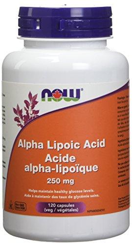 NOW Alpha Lipoic Acid 250mg 120 Capsules, 50 g