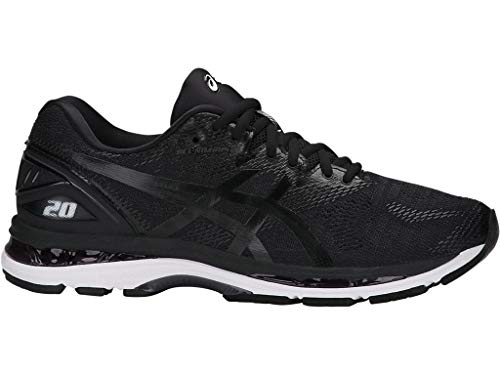 ASICS Men's Gel-Nimbus 20 Running Shoe, black/white/carbon , 6 Medium US