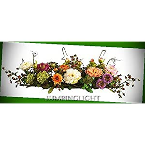 Silk Flower Arrangements JumpingLight 4665 Mixed Peony Centerpiece Silk Flower Arrangement Artificial Flowers Wedding Party Centerpieces Arrangements Bouquets Supplies
