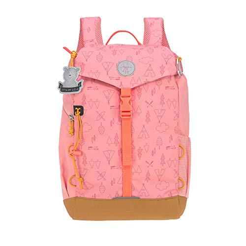 LÄSSIG Kinder Wanderrucksack Kinderrucksack Ausflug ab 5 Jahre /Outdoor Backpack Big Adventure Rosa, 14 L