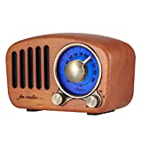レトロラジオ 木製 小型 Bluetooth スピーカー ポータブルラジオ USB充電式 高感度受信 ポケット ラジオ 大音量バッテリー FM対応