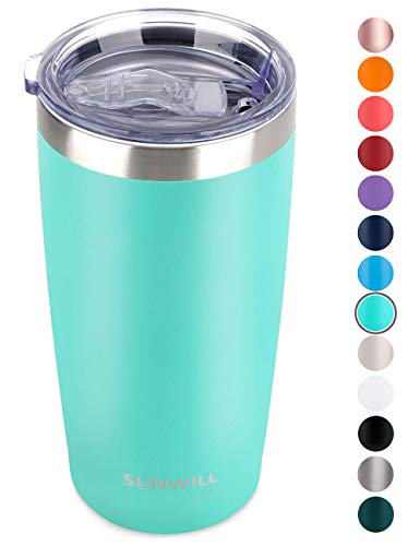 SUNWILL 20oz Tumbler with Lid, Stainless Steel Vacuum Insulated Double Wall Travel Tumbler, Durable...