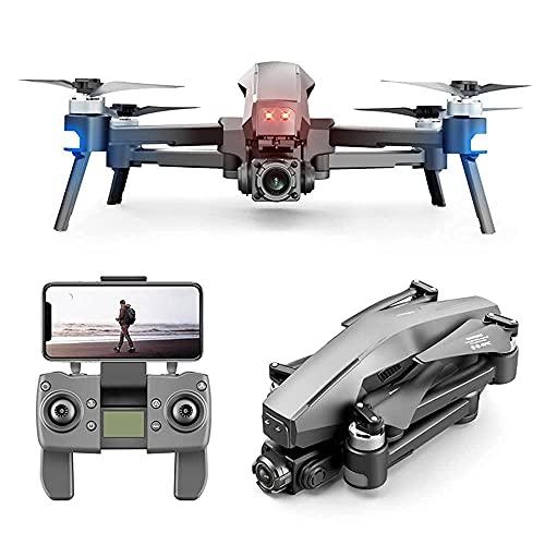 GZTYLQQ Batería de Larga duración Motor sin escobillas GPS Plegable de 2 Ejes Drone HD 6K Cuadricóptero de Control Remoto aéreo