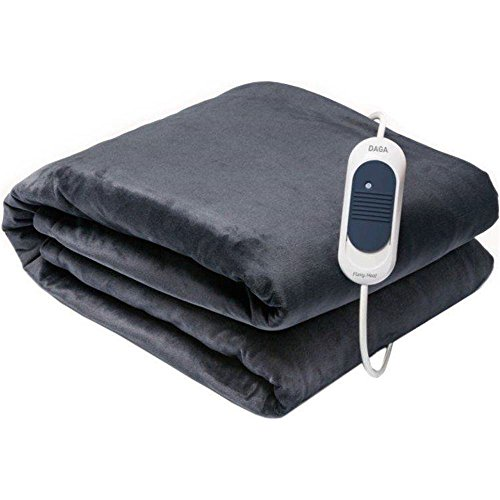 Daga Softy E Elektrische deken, 160 x 100 cm, afneembare aansluiting, 3 temperatuurniveaus, superzacht oppervlak, wasbaar met de hand of in de machine, autostop voor veiligheid, snel opwarmen