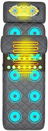 XRDSHY Tappetino da Massaggio con Calore Massaggiatore a Vibrazione Cuscino per Massaggio Completo per Collo E Schiena, Rilassamento dei Muscoli Lombari Materasso per Massaggi Jade Hot Compress