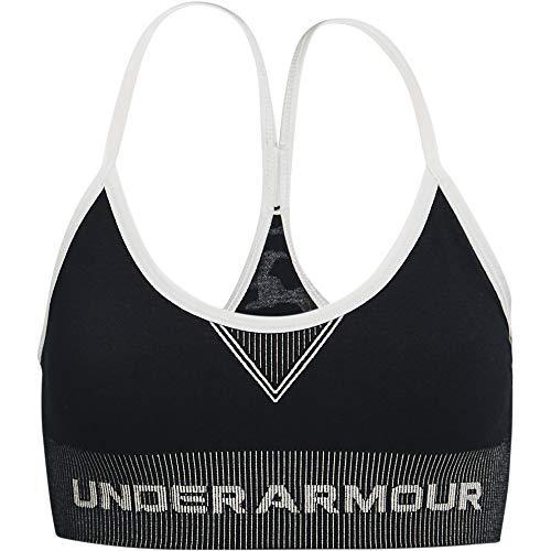 Under Armour Kids Girls' Seamless Longline Bra, Black, XL (18-20 Big Kids)