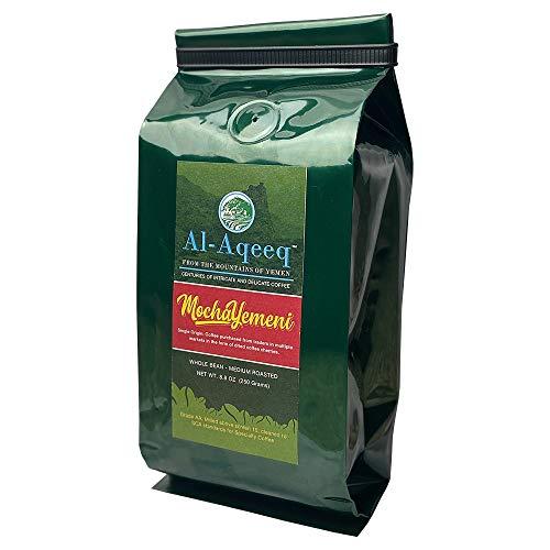Al-Aqeeq: Mocha-Yemeni Whole Bean Coffee| Authentic Yemeni Coffee| Freshly Roasted Yemen Coffee| Coffee From Around The World| Arabica Coffee Beans| Specialty Coffee| Medium Roasted
