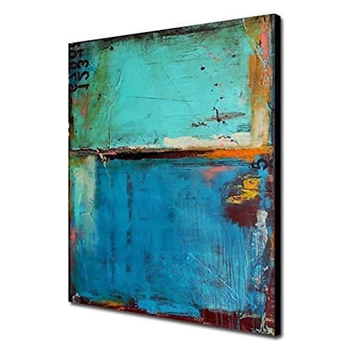 Pintura Al óLeo Pintada A Mano Cuadros Abstractos Modernos Sobre Lienzo Arte Sala De Estar Dormitorio DecoracióN Para El Hogar,Innerframe,60×90cm