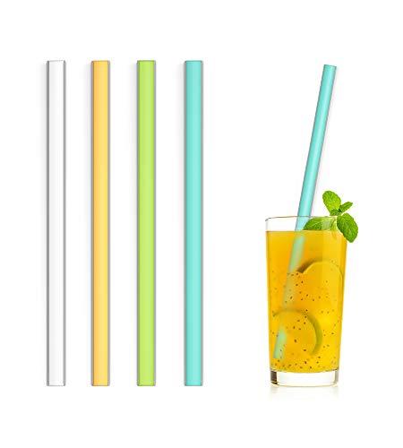 SLIDERSTRAW - Chico lang - NEU Patentiert: Reinigung ohne Bürste! Edelstahl/Silikon - wiederverwendbare Strohhalme/Mehrweg Trinkhalme für Gastro, Hochzeit und Geburtstag, Cocktail/Longdrink (bunt)