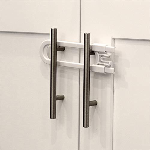 Child Safety Sliding Cabinet Locks (8 Pack) - Baby Proof Knobs, Handles, Doors - U Shape Sliding Safety Latch Lock - Jool Baby