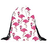 DAY.LIN Flamingo Kordelzug Unisex Rucksäcke 3D Druck Taschen Kordelzug Rucksack