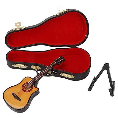 YUUGAA Modelo de Guitarra en Miniatura, Tilo y Metal Modelo de Guitarra...