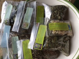 Herb Collection 8 ~ Wicca ~ Signature Confirmation on package ~ Ravenz Roost dried herbs ~ 7 dried herbs ~ 1/2 oz each & 1/2 oz Frankincense