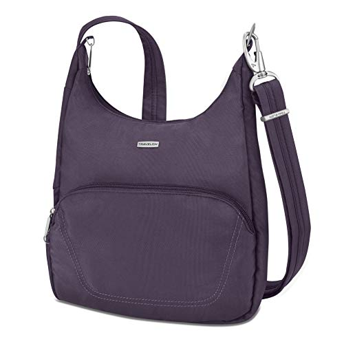 Travelon Anti-Theft Essential Messenger Bag (Purple)