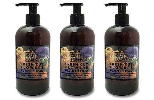Fresh Cut Flower Food for Longer Lasting Blooms | Gentle Plant Food Concentrate (Three - 8 oz. Bottles)