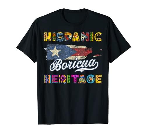 Puerto Rico Hispanic Heritage Month Gift Design Idea T-Shirt