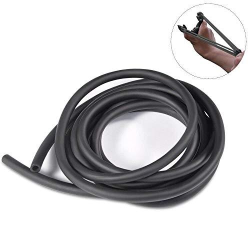 Natural Latex Rubber Tube, 3m 6x9mm Strong Latex Band Tube for Slingshot Catapult Surgical Tube Elastic Fitness Band Sprinkler Tube (Black)